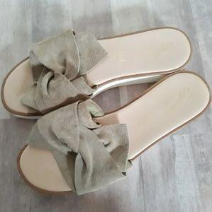 Seychelles Coast Knotted Slide Sandals